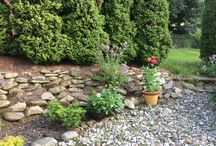 Naše zahrada / Foto ze zahrady, řezby v zahradě