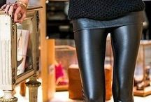 Leather pant outfits