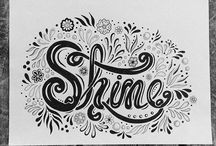 Hand Lettering / Hand Lettering done by Jane Snedden Peever