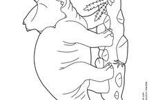 Coloriages de dinosaures / Tricératops , ptérodactyles, Archaeornithomimus, stégosaure , bébés dinosaures... ce tableau de coloriages de dinosaures est fait pour petits et grands