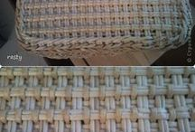 pletené dno s pokračováním krabice
