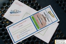 Wedding Invites & Materials / Wedding invitations made by us (Blustery Day Design).  Yay for couples who love each other!