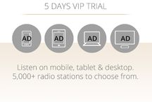 Be a VIP listener! / Ad-free listening to our over 5000 radio stations on Live365.com! / by Live365