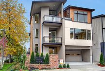 Belmont - Bellevue WA / Belmont featured modern architecture and three story homes.