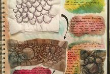 Textiles sketchbook pages