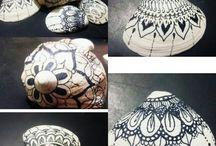 Caracoles pintados