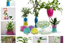gelparels / leuke vaasdecoratie zowel voor snijbloemen als voor planten geeft een mooi effect en zeker met ledlichtjes