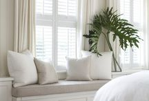 window treatments / Custom window treatments, drapes, shades, details and hardware.