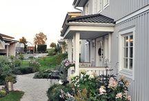 Vordach und Veranda