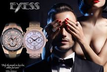 EXESS MAN / Exess is a brand in which you will fall in love. 316 stainless steel, 5ATM water resistance, leather strap. Unique design thought out to the last detail. Now you can also put a real work of art on your arm which attracts the  bystanders' attention to itself and owner with its beauty. It is excellent gift for your friend or loved one.