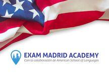 Exam Madrid Academy / American Academy EXAM Madrid ofrece los mejores cursos de inglés en Madrid mediante la aplicación de un método de formación vanguardista, fresco e innovador, con profesores americanos nativos expertos en cada una de las secciones específicas que conforman los exámenes de admisión más importantes y reconocidos en los Estados Unidos y el mundo: TOEFL, TOEIC, SAT, GRE, GMAT, IELTS y CAE. https://ingles-madrid.com/