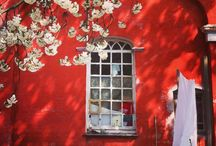 Red- Colour Inspiration / Our fabrics and inspiration all around the colour red.
