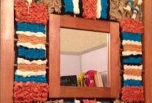 espejos con telar decorativo