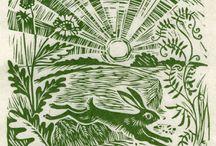 World of woodcut / linocut 世界の木版画 / ボク好みの世界中の木版画を集めています♪