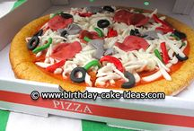 Pizza party cake and ideas