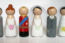 Personalised Wedding Toppers by the dolly bird