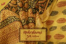 Maheshwari Sarees / The famed Maheshwari Sarees with their adorable block prints and vibrant colours to steal your heart!
