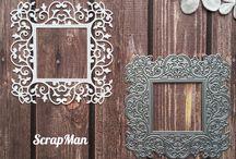 Craft Dies - Frames / Сraft dies for scrapbooking themed frames.
