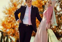prewedding hijab poses