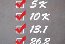 Marathon Checklist Decal / Checklist of accomplishment. 5k, Half Marathon, and Full Marathon - 5k, 13.1, and 26.2