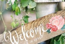 wedding signs / by Sharon Bastin