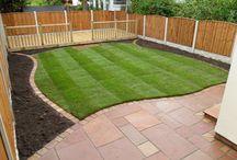 Back garden landscape design