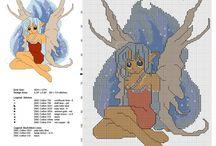 Fairies and fairies butterflies cross stitch patterns / Fairies and fairies butterflies cross stitch patterns, free download.