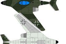 aviones civiles y de combate...