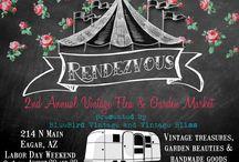 Rendezvous Market / Our Annual vintage-garden-handmade Market at Bluebird Vintage Antiques in Eagar,AZ.