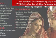 Medspa Wedding Package / Look beautiful on your Wedding Day. Let Medspa customize your Wedding Program Today! COSMETIC •Bridal Makeup and Dress •Bridal Facial •Groom Facial NON SURGICAL •Acne and acne scar reduction programs •Under Eye Circles Treatment •Pigmentation Problem •Laser Hair Removal •Lip Augmentation CONTACT : 09958221982 WEB: www.drkashyap.com