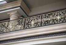 Кованые балконные ограждения. / Общий объем - 67 метров погонных. Художественная ковка.