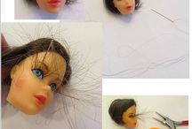 Doll makeovers and clothing.