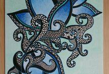 Mes créations / zentangle Artistique  Retrouvez mes créations sur ma page Facebook ChowAnne Créations