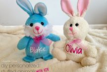 Easter / Eggs, Bunny, and Burlap galore!   Get crafty this Easter with DIY projects that are made from vinyl, cotton balls, and your Silhouette or Cricut machine.