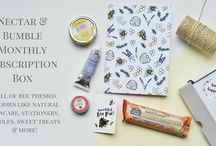 Nectar & Bumble Bee Subscription Box / We're so excited to launch our BRAND NEW monthly bee theme subscription box!   Each month, Nectar & Bumble subscribers will receive a selection of bee themed products like stationery, natural skincare, candles, jewellery, sweet treats and more.  All for just £20.00 per month plus £2.95 postage & packaging. http://www.nectarandbumble.co.uk/nectar-bumble-bee-subscription-box.html