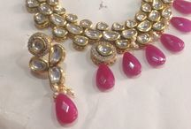 The big fat Indian wedding! / An intricately created kundan multi stoned necklace finished with pink beads!!