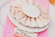 Wedding guest's card