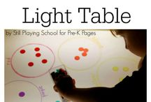 Light Table / ideas for the light table