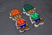 """Pharrell Williams Stickers / One of our favorite clients - the Billionaire Boys Club - called us with a unique request: create some cartoonish stickers of Pharrell Williams. Not only were we excited for the challenge, but we were """"Happy."""""""