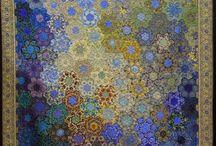 byzantine look hexagon quilt