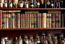 Shelves, bottles and collections
