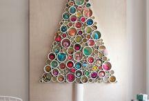 Alternative Christmas Trees / Alternative Weihnachtsbäume. Es muss nicht immer eine Tanne sein. Fantasie ist grenzenlos!