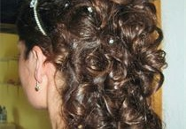 Christin's wedding/bridal hair and makeup / ideas for hair styles to wear on the day of my wedding / by Christin Little