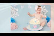 Smash Cakes by A. Fatouros Photography! / Smash cake! Winter Wonderland theme smash cake by A. Fatouros Photgoraphy www.AFatourosPhotography.com
