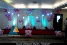 Birthday Decorations / Sigaram Management Servicing helps you to organize a birthday parties smoothly by keeping certain things into thought which helps birthday parties become a Perfect Shot! Our Birthday Party service Comprises of Decoration, Cake, Balloons, Flower Arrangement, Cards, Games and so on...