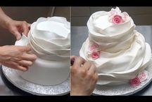 How to make ruffle cakes.