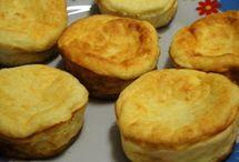 muffins, bolinhos e pãezinhos
