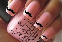 nails and moustache
