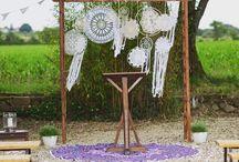 Nos Créations / Mariage aux inspirations Bohème Vintage Champêtre Romantique - Location conseil préparation décoration