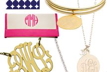If it isn't moving... / Monograms | Monogrammed jewelry + decor